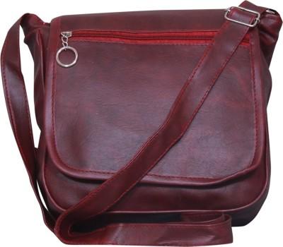 Notbad Girls Maroon Leatherette Sling Bag