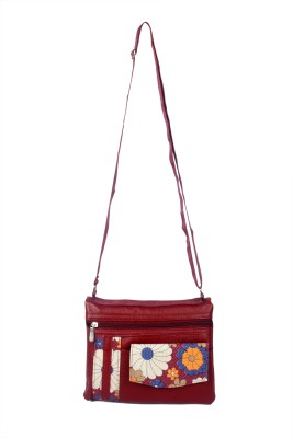 NFI Girls, Women Maroon Leatherette Sling Bag