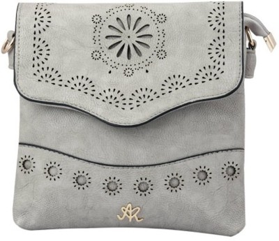 Aarushi Khurana Women Grey Leatherette Sling Bag
