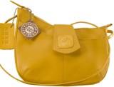eZeeBags Women Yellow Genuine Leather Sl...