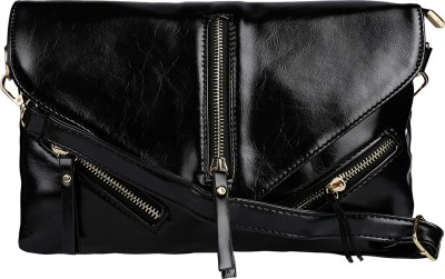ToniQ Girls, Women Black PU Sling Bag