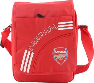 Merchant Eshop Men, Boys Red Leatherette Sling Bag