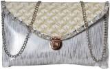 First loot Women Silver Rexine Sling Bag
