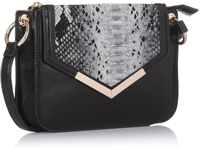 Addons Women Casual Black PU Sling Bag