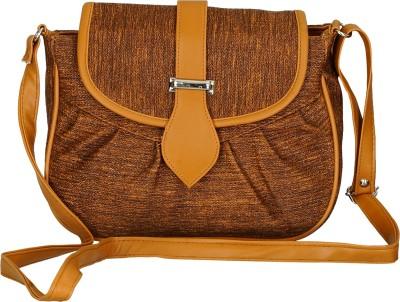 Leather Land Women, Girls Brown PU Sling Bag