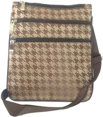 Amafhh Girls Casual Brown Canvas Sling Bag