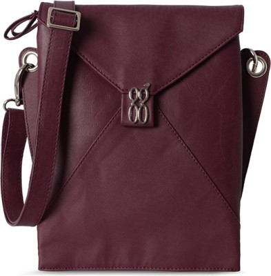 Baggit Women Evening/Party Maroon Rexine Sling Bag