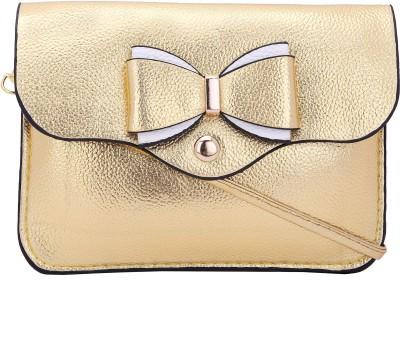 Borse Women Casual Gold PU Sling Bag