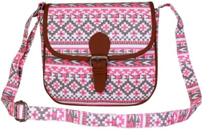 Ayeshu Girls Pink Canvas Sling Bag