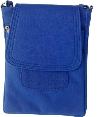 Vira Girls Blue Rexine Sling Bag