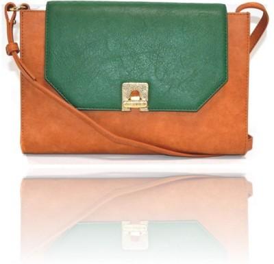 Ccha Women Tan PU Sling Bag