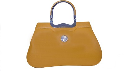 SK-Effects7 Women Tan Leatherette Hand-held Bag