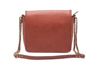 Landmesser Women Maroon Genuine Leather Sling Bag