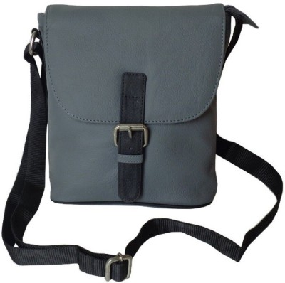 Style 98 Women Casual Grey Genuine Leather Sling Bag