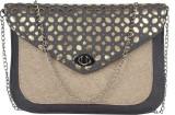 MGG Women Grey Rexine Sling Bag