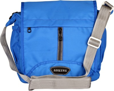 Aoking Men, Boys, Women, Girls Casual Blue Nylon Sling Bag