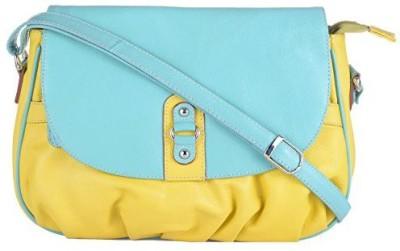 EUPHORIA Girls Formal Yellow Leatherette, Nylon Sling Bag