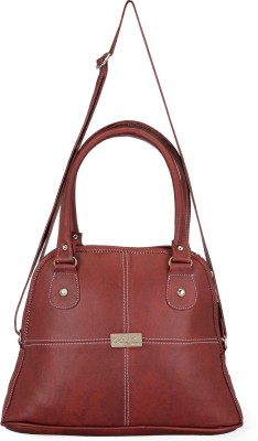 Frosty Fashion Women Maroon PU Sling Bag