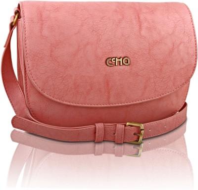 Ccha Girls Pink PU Sling Bag