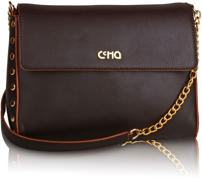 Ccha Women Brown PU Sling Bag