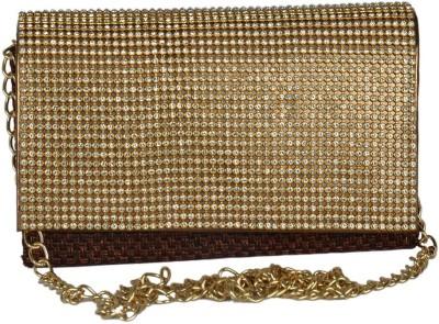 Murcia Women Gold Cotton Sling Bag
