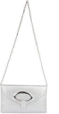 Brendon U.K Girls Silver Leatherette Sling Bag