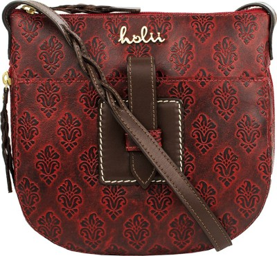 Holii Women Red Genuine Leather Sling Bag