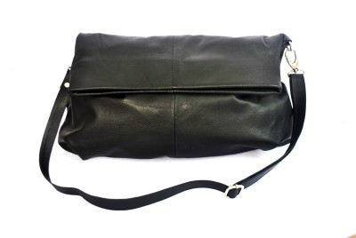 Modish Women Casual, Evening/Party Black Genuine Leather Sling Bag