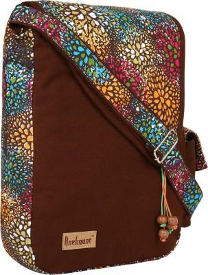 Anekaant Women Brown, Multicolor Canvas Sling Bag