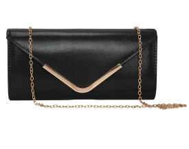 ToniQ Girls, Women Black PU Clutch