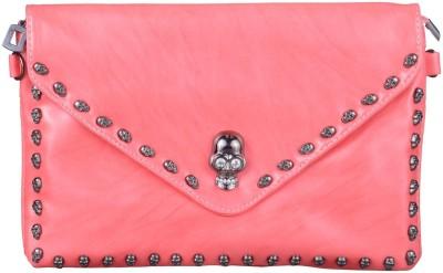 JAGADHARTI Girls Pink Velvet Sling Bag