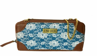 3 Mad Chicks Girls Brown, Blue PU Sling Bag