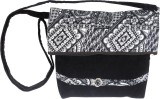 Avni Women Black Denim Sling Bag