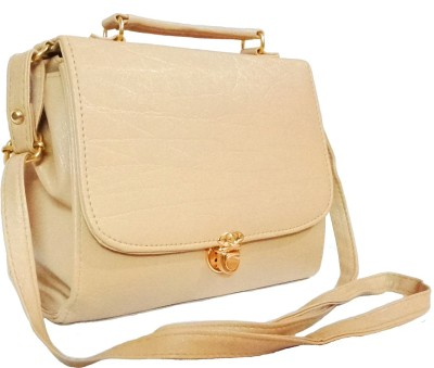 Chalissa Girls, Women Beige PU Sling Bag