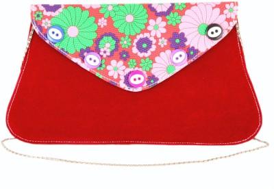 Sanjog Women, Girls Maroon Velvet Sling Bag