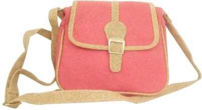Clicktin Girls Pink Acrylic Sling Bag