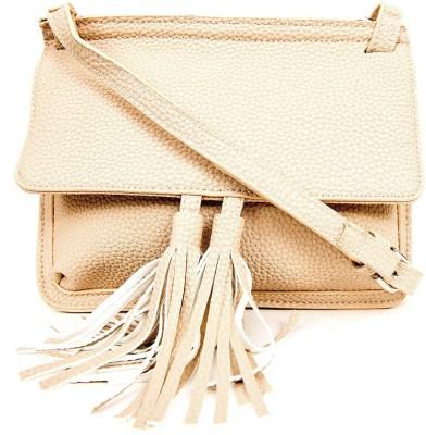 AQ Women Casual Beige PU Sling Bag