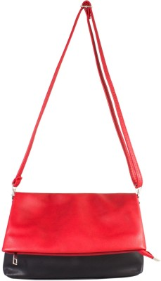 JDK NOVELTY Women Red Leatherette, PU Sling Bag