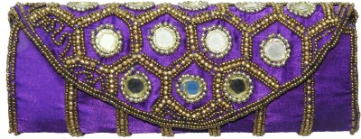 ShopperzGuide Girls, Women Purple Silk Sling Bag