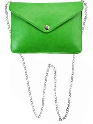 Ellye Girls Evening/Party Green PU Sling Bag