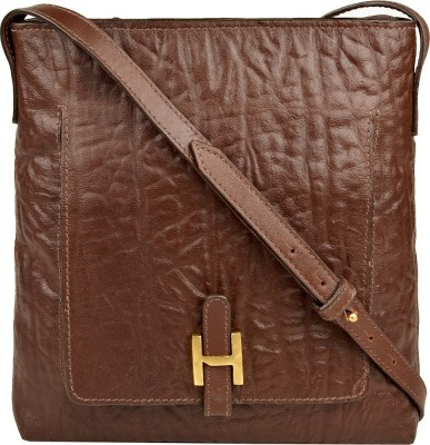 Hidesign Women Brown Genuine Leather Sling Bag