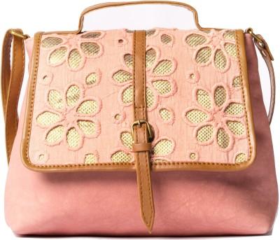 Desi Drama Queen Girls Casual Pink PU Sling Bag