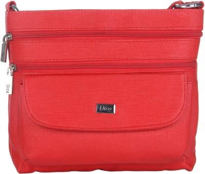 Dice Women Casual Red PU Sling Bag
