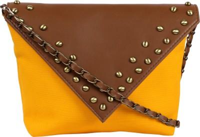 Kanvas Katha Girls, Women Yellow Canvas Sling Bag