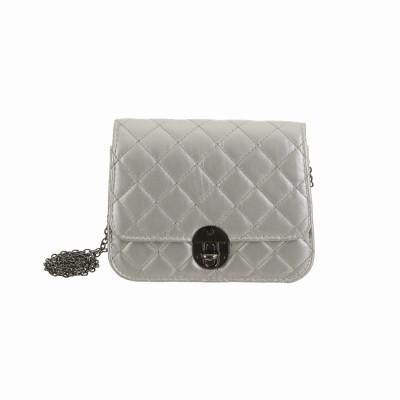 Peaubella Girls Casual Silver PU Sling Bag