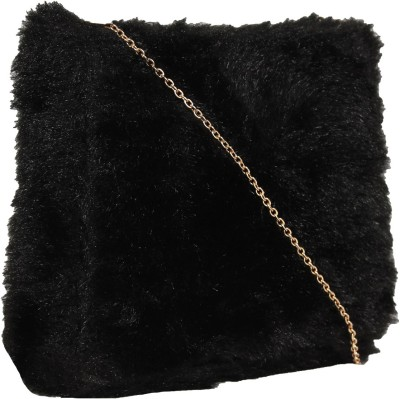 Tomas Women Black Velvet Sling Bag