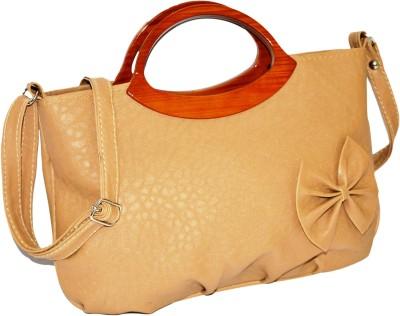 Minar Girls Beige PU Sling Bag