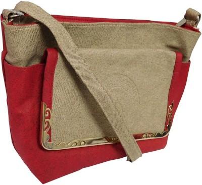 Samco Fas Girls, Women Red Rexine Sling Bag