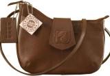 eZeeBags Women Brown Genuine Leather Sli...