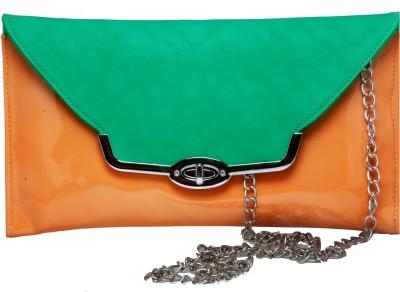 Tripssy Women Party, Casual Orange, Green  Clutch
